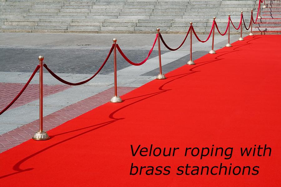 velour rope