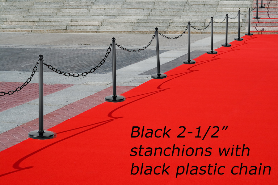 plastic chain and stanchions